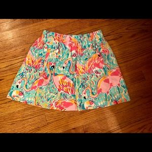 Lilly Pulitzer flamingo skirt